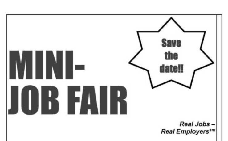 Mini Job Fair